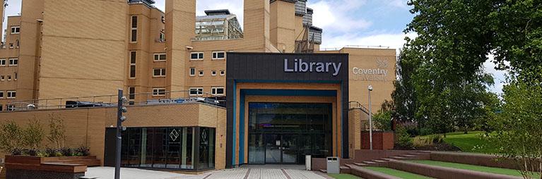 イギリス コベントリー大学 ランチェスター図書館