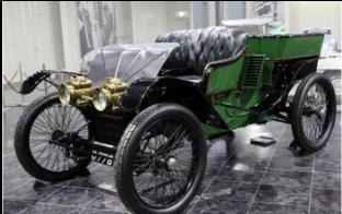 トヨタ博物館にある1904年製のランチェスター・カー